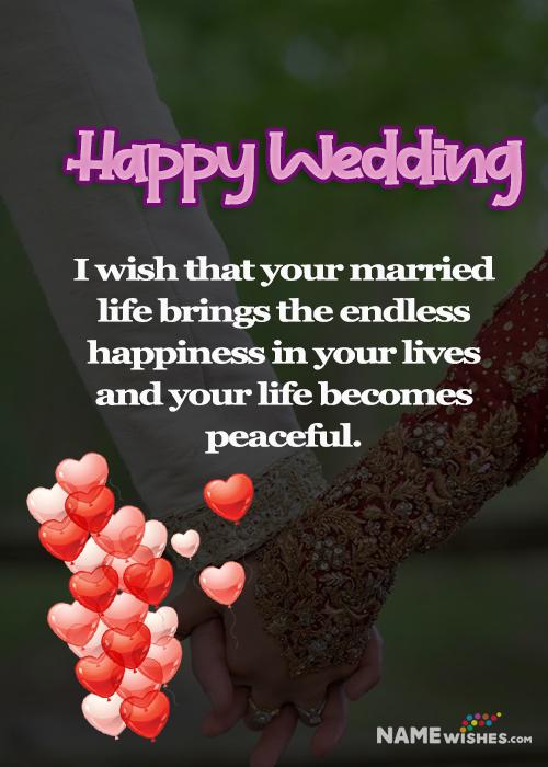 Lovely wedding wish for best friend