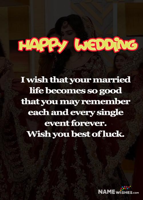 Happy Wedding Wish For beautiful couple