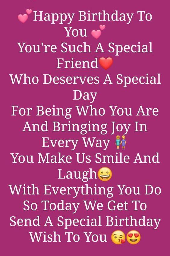 Whatsapp Status wish for special friend
