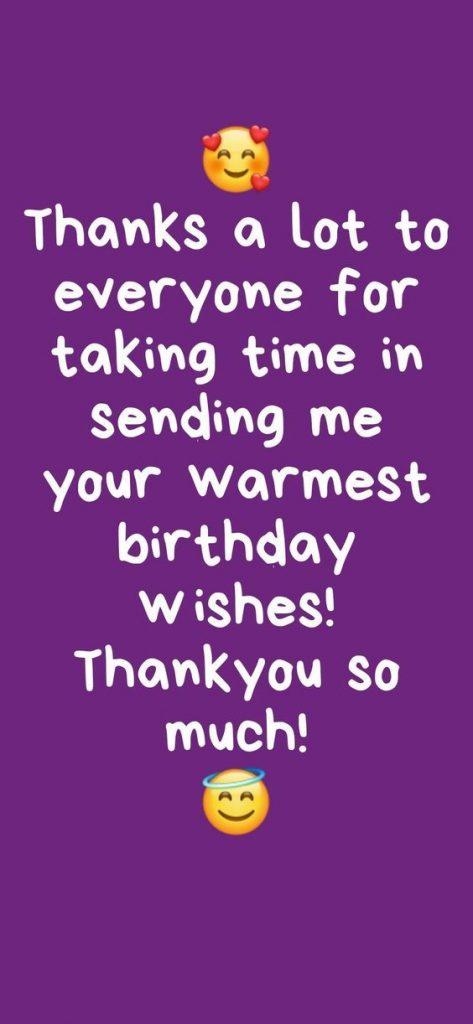 Thank You WhatsApp Status Birthday wish