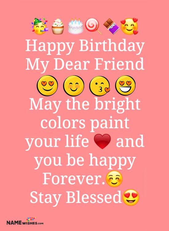 Whatsapp Status birthday wish for friends