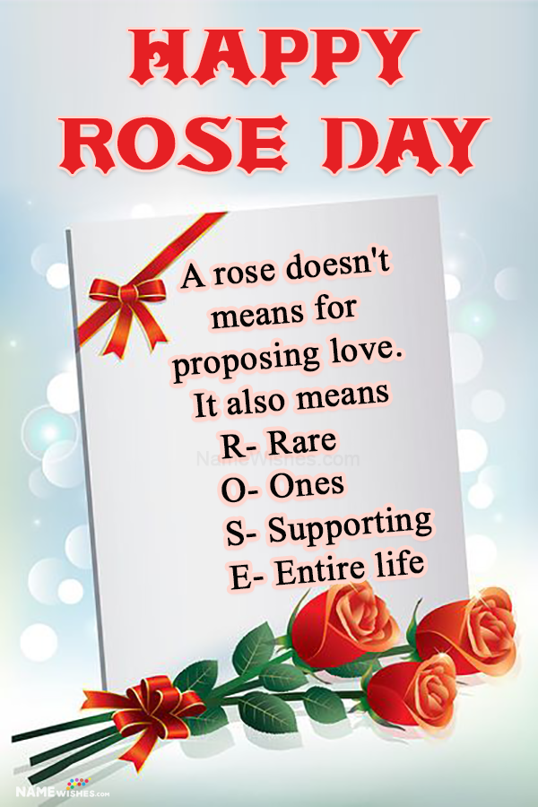Rose Day wishes Quotes Images