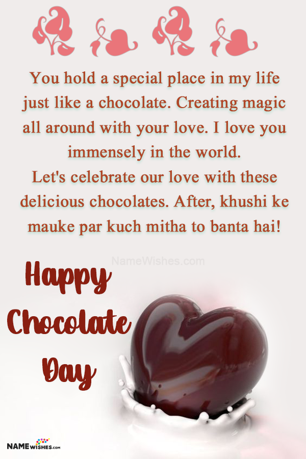Chocolate Day Love Quotes Messages